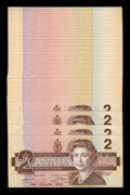 Canadian Currency: , BC-55bA $2 1986 44 Consecutive Replacements.. ... (Total: 44 notes)