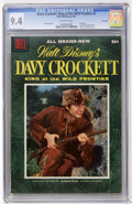 Golden Age (1938-1955):Miscellaneous, Dell Giant Comics - Davy Crockett King of the Wild Frontier #1 File Copy (Dell, 1955) CGC NM 9.4 Off-white pages....