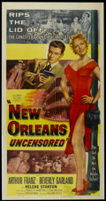 """Movie Posters:Crime, New Orleans Uncensored (Columbia, 1955). Three Sheet (41"""" X 81"""").Crime...."""