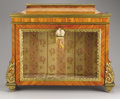 Furniture : French, A FRENCH LOUIS XVITH-STYLE GILT METAL MOUNTED KINGWOOD TABLE VITRINE. Late 19th-Early 20th Century. 25 x 30-3/4 x 12-3/4 inc...