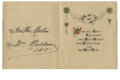Boxing Collectibles:Autographs, 1912 William Muldoon Signed Christmas Card. America's first worldwrestling champion, the Iron Duke William Muldoon was one...