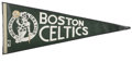 Basketball Collectibles:Others, 1977-78 Boston Celtics Team Signed Pennant. Much in the way of starpower is represented here with this collection of signa...
