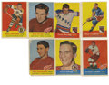 Hockey Cards:Lots, 1957-58 Topps Hockey Near Complete Set (61/66). Near set (61/66) ismissing only the following five cards - #10, 20, 22, 35,...