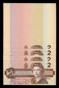 Canadian Currency: , BC-55bA $2 1986 50 Consecutive Replacements.. ... (Total: 50 notes)