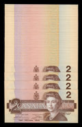 Canadian Currency: , BC-55bA $2 1986 50 Consecutive Examples.. ... (Total: 50 notes)