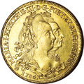 Brazil, Brazil: Maria I and Peter III gold 6400 Reis 1784-R,...