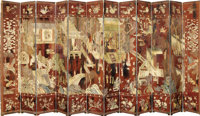 A FINE CHINESE TWELVE PANEL COROMANDEL LACQUER SCREEN 18th Century 105 x 231 inches (266.7 x 586.7 cm)