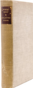 Books:Signed Editions, Robert Frost. Collected Poems. New York: Random House, 1930....