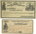 Miscellaneous:Ephemera, Lot of Two State Controllers Receipts Montana & Nevada ca 1880s- ... (Total: 2 Items)