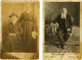 Photography:Cabinet Photos, Two Cabinet card Photographs of Old Timers from Texas ca 1880s -... (Total: 2 Items)