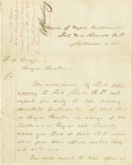 Military & Patriotic:Indian Wars, Fort D. A. Russell, Wyoming Territory Wagon Masters orders 1868 -...