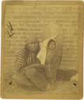 Photography:Cabinet Photos, Small Photograph North Western Indian Woman and Papoose ca1880s-90s - ...