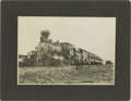Transportation:Railroad, Cabinet Card Photograph Train through Big Horn Basin Wyoming ca1890s -...