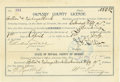 Miscellaneous:Ephemera, Ormsby County license Carson City, Nevada 1896 -...