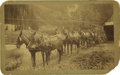 Western Expansion:Goldrush, Cabinet Card Photograph Ashenfelter's Transporters Co. 1890s - ...
