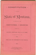 Miscellaneous:Booklets, Constitution of the State of Montana 1889 -...