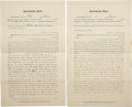 Western Expansion:Goldrush, Lot of Two Quit Claim Deed's Arizona Territory 1906 - ... (Total: 2Items)