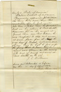 Miscellaneous:Ephemera, Document Pertaining to Arrest in Cherokee Nation Indian Territory1876 -...