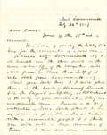 Miscellaneous:Ephemera, Letter discussing the Sibley Tent, Fort Leavenworth, Kansas 1859-...