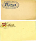 Miscellaneous:Ephemera, Two Western Stagecoach Company Blank Covers ca 1860s -... (Total: 2Items)
