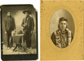 Photography:Cabinet Photos, Two Cabinet Card Photographs of Native Americans, 1890s-1900s....(Total: 2 Items)