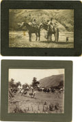 Western Expansion:Indian Artifacts, Lot of Two Small Photographs of Native Americans, ca. 1890s. ...(Total: 2 Items)