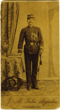 Photography:Cabinet Photos, Autograph Cabinet Card Photograph of Mexican Officer ca 1880s - ...