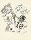 Football Collectibles:Balls, 1975 Long Island Athletic Club Multi-Signed Program. The Long Island Athletic Club honoring the Professional Football Most V...