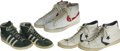 Basketball Collectibles:Uniforms, 1970s NBA Stars Game Used Shoes Lot of 11. What we afford here is atop-notch collection of 11 shoes worn on the NBA hardwo...