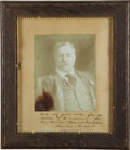 Autographs:U.S. Presidents, Theodore Roosevelt Signed and Inscribed Photograph,...