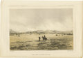 Miscellaneous:Ephemera, Early Litho of Indians at Fort Owen. ...