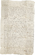 Miscellaneous:Ephemera, Stampless Letter with Paid Cancel Hartford, Ct. 1834 - ...