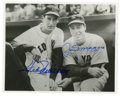 Autographs:Photos, Joe DiMaggio & Ted Williams Multi- Signed Photograph. Two ofthe greatest hitters of all time pose during a meeting at Fenw...