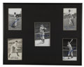 Autographs:Photos, Baseball Hall of Famers Signed Photograph Display. Here we offer acollection of signed Hall of Fame black and white photog...