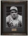 Autographs:Letters, Attractive Babe Ruth Cut Signature Display. With the collection of players that made up the legendary Murderer's Row lineup...