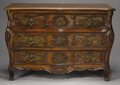 Furniture , A CONTINENTAL CARVED MAHOGANY COMMODE. 20th Century. 32 x 48 x 21 inches (81.3 x 121.9 x 53.3 cm). ...