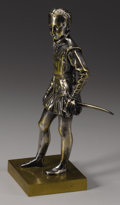 Bronze:European, After FRANÇOIS-JOSEPH BOSIO (French, 1768-1845). Henry IV as aBoy. Partial gilt silvered bronze. Inscribed on base:...
