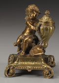 Decorative Arts, Continental:Other , A GERMAN BRASS INKWELL. 20th Century. 7 inches (17.8 cm) high. ...