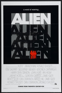 "Alien (20th Century Fox, 1979). One Sheet (27"" X 41"") Tri Folded Advance. Science Fiction"
