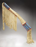 American Indian Art:Beadwork and Quillwork, A SIOUX BEADED AND QUILLED HIDE RIFLE SCABBARD. c. 1885. ...