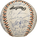 Autographs:Baseballs, 1993 National League All-Star Team Signed Baseball. An impressive34 signatures from the 1993 NL All-Stars appear on the of...