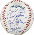 Autographs:Baseballs, No-Hitter Pitchers Multi-Signed Baseball. The pinnacle of the sport for those whose realm is the pitcher's mound is the elu...