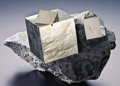 Minerals:Cabinet Specimens, PYRITE ON MATRIX. ...