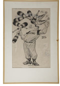 Baseball Collectibles:Others, 1950s Willard Mullin Signed Original Art. Renowned illustratorWillard Mullin, best-known for his creation of the Brooklyn ...