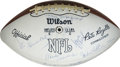 Football Collectibles:Balls, 1968 New York Jets Reunion Team Signed Football. Signed at a reunion for the Super Bowl III champions, this fine Wilson foo...