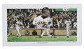 Baseball Collectibles:Others, Barry Bonds Signed 500th Home Run Lithograph. Barry Bonds cementedhis spot in baseball's history books when he broke the e...