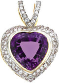Estate Jewelry:Pendants and Lockets, Amethyst, Diamond, Gold Enhancer. ...