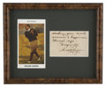 Golf Collectibles:Autographs, Walter Hagen Cut Signature Display. In addition to displayingexceptional prowess for the game of golf, Walter Hagen also f...
