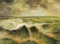 Fine Art - Painting, Russian:Modern (1900-1949), CONSTANTIN ALEKSANDROVICH WESTCHILOFF (1877-1945). Seascape.Oil on canvas. 23-1/2 x 31-1/2 inches (59.7 x 80.0 cm). Sig...