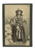 Military & Patriotic:Indian Wars, Imperial Size Cabinet Card of Nez Perce Indian Man, ca. 1890s. ...